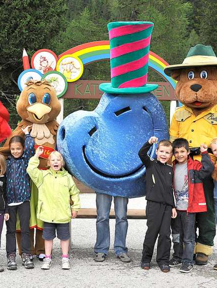 mascot parade with musical hiking tour